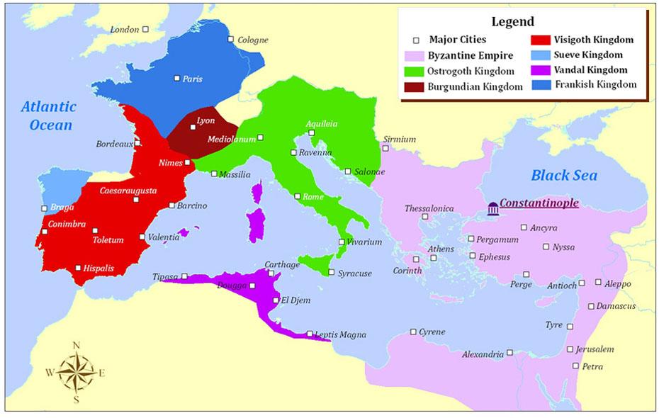 Rome torn apart, AD 526