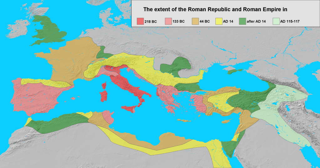 Expansion of the Roman Empire 218 BC to AD 117