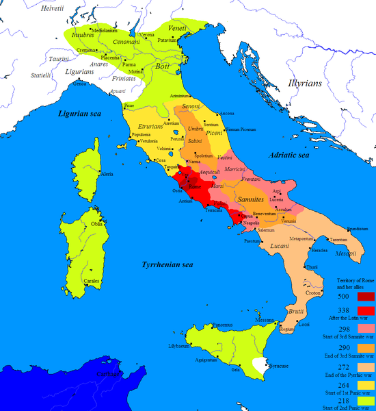 Roman Conquest of Italy 500 BC to 218 BC